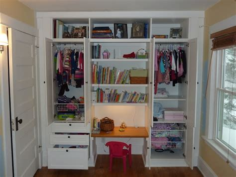 Wardrobe With Built In Desk by Hackers Kid S Built In Wardrobe Closet Base Out Of
