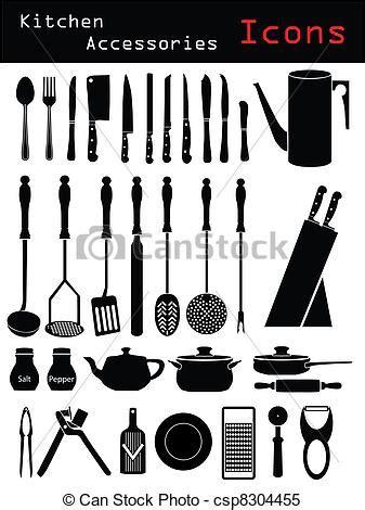 Kitchen Accessories Vector Free Clipart Vector Of Kitchen Accessories Various Kitchen