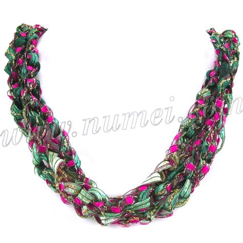 Handmade Ribbon - handmade ribbon necklace qg68127