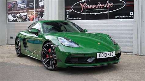 green porsche my porsche cayman wrapped in green
