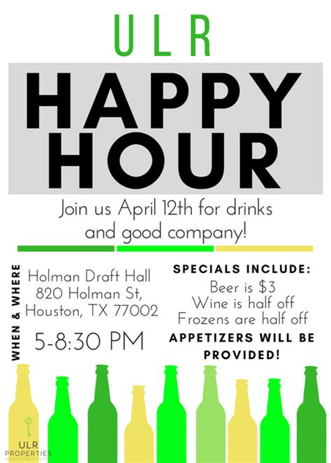 Happy Hour Deny Away April by Has Sprung Houston April Newsletter Our