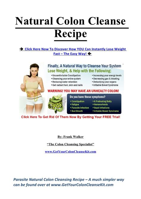 Intestinal Detox Recipe by Colon Cleanse Recipe