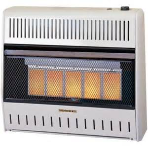 gas heaters home depot procom 27 in vent free dual fuel infrared gas wall heater