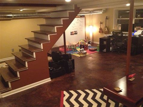best way to finish basement awesome partially finished basement ideas finished