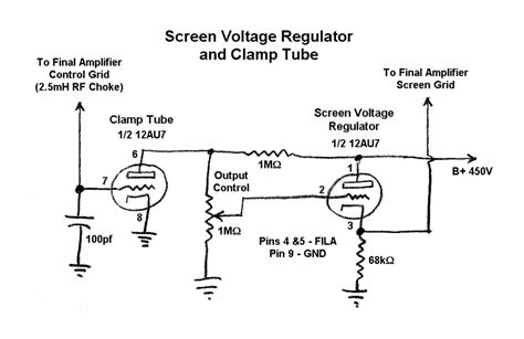 what is a screen grid resistor the w8exi wingfoot vfo exciter screen voltage regulator and cl schematic diagram and