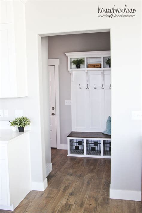 Corner Bench And Shelf Entryway Diy Mudroom Bench Honeybear Lane