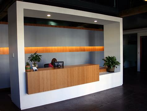 Elevate Your Office Reception Desk With Amber Grain Plyboo Reception Desk Designs