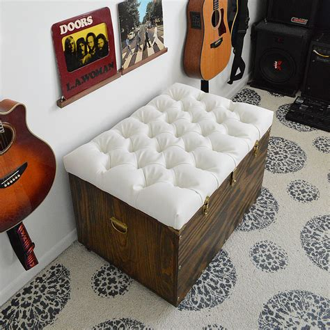 Diy Storage Ottoman Diy Tufted Storage Ottoman Popsugar Home