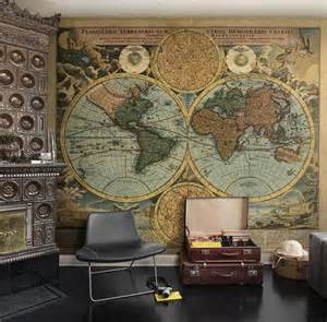 room mapping world map wallpaper mural