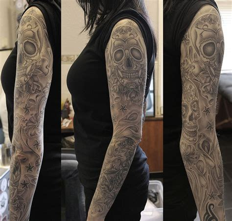 sugar skull sleeve tattoos 25 best ideas about sugar skull sleeve on