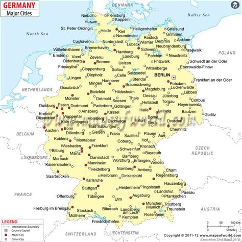 cities in germany map of german cities google search maps pinterest