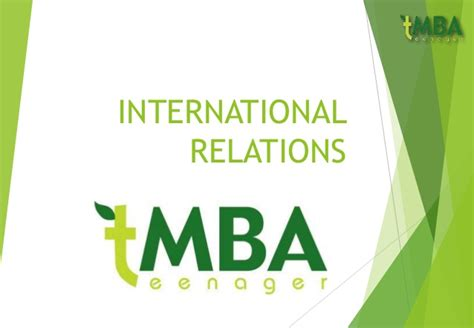 Ma In International Relations And Mba by International Relations Chapter 2 Non States