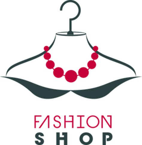 clothes design logo vector fashion shop necklace logo vector ai free download