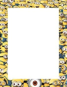 printable minion writing paper minion themed print out border page this pdf document