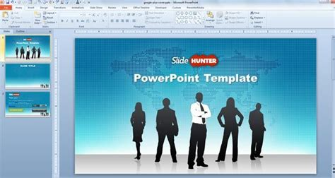 Free Free Widescreen Global Leadership Powerpoint Template Powerpoint Templates 2010