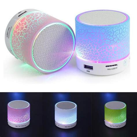 Color Bluetooth Speaker With Led Light Speaker Bluetooth Q 8 1 mini portable wireless bluetooth stereo led speaker color changing light ebay