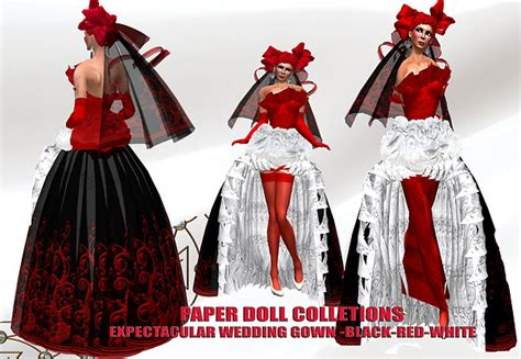 paper dolls with white wedding dresses paper doll expetacular in black white wedding gown