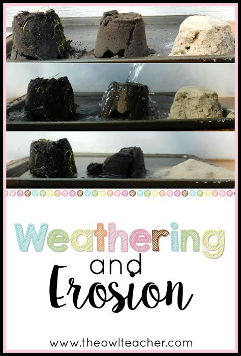 design a weathering experiment 73 best images about weathering and erosion ideas on