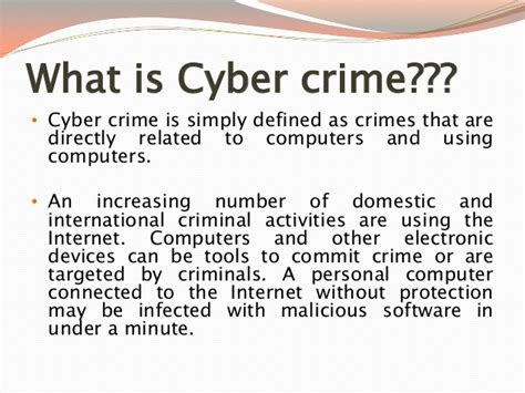 It act and cyber crime