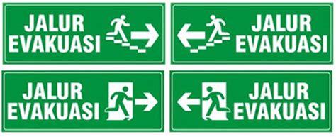 layout jalur evakuasi jual stiker rambu titik kumpul di tangerang
