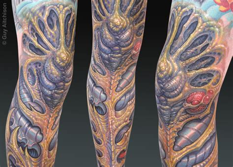 biomech tattoos bio organic designs society magazine