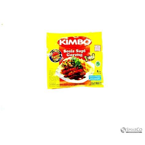 supermarket detil produk kimbo sosis sapi goreng  btg  gr