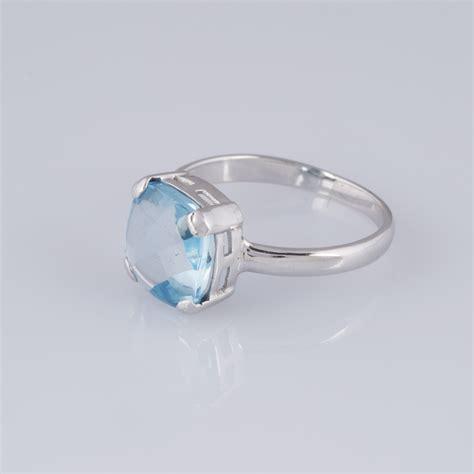 blue topaz and white gold ring expertissim