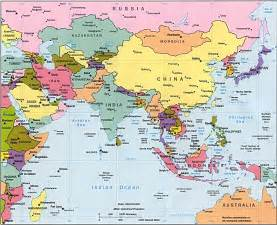 Where Is Asia On The Map by Asia Map