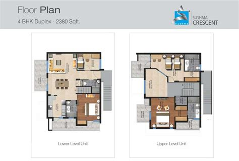 Floor Plan Sushma Crescent Gazipur Old Panchkula Plans For Duplex Flats