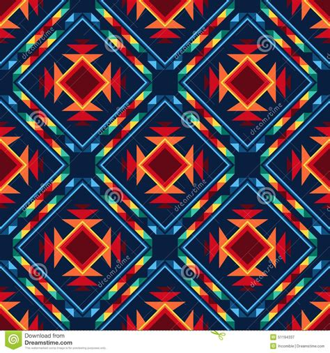 seamless tribal pattern tribal abstract seamless pattern aztec geometric stock