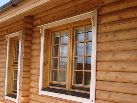 Log Cabin Windows by Michael Carr Joinery Log Homes