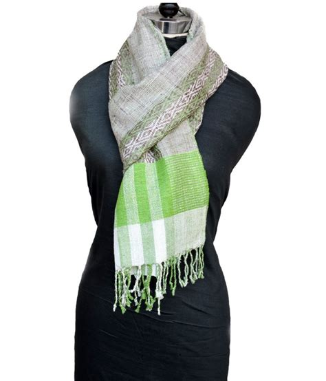 Handmade Shawl - tasar handmade green shawl for price in india buy