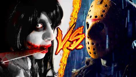 jason killer jeff the killer vs jason voorhees combates mortales de