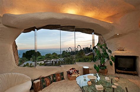 dick clark flintstone house photos dick clark s flintstones inspired home in malibu bored panda