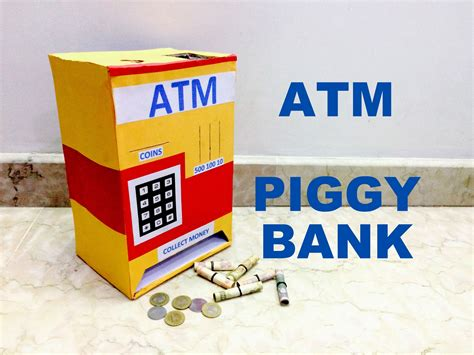 How To Make A Piggy Bank Out Of Paper Mache - how to make piggy bank atm machine at home