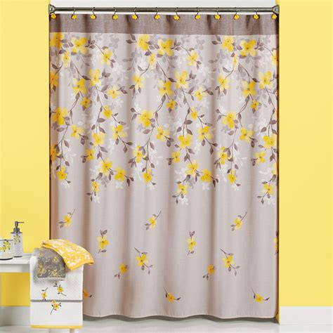 floral shower curtains fabric spring garden floral pattern bathroom collection 70 quot x72