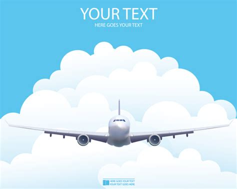 Elements Of Airlines Background Design Vector 01 Over Airline Ppt Template