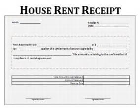 House rent receipt format receipt templates folat