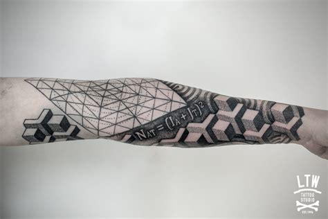 tattoo geometrico geom 233 trico por jorge teran