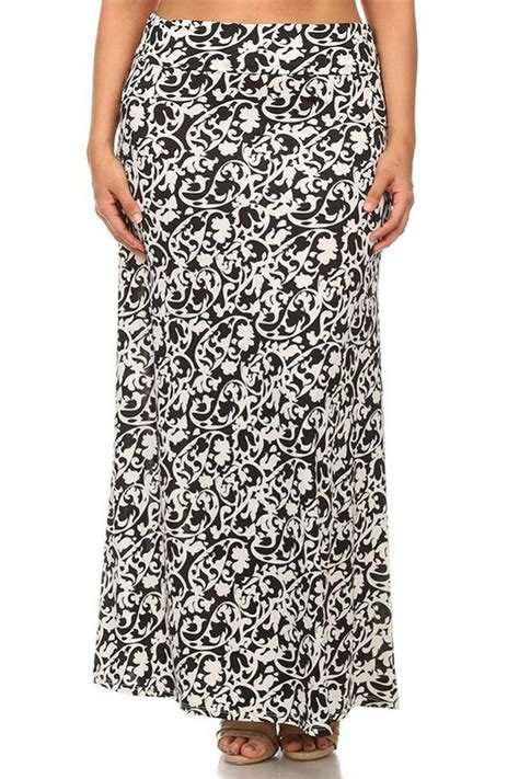 plus size abstract floral print relaxed maxi knit