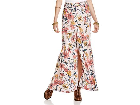 free smooth sailing floral maxi skirt lyst