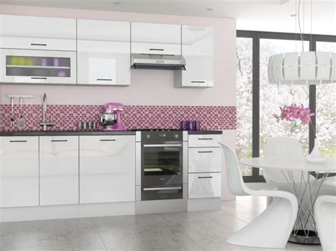 white high gloss high quality modern kitchen units