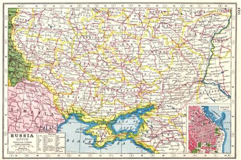 russia odessa map map of southern russia with odessa inset 1920