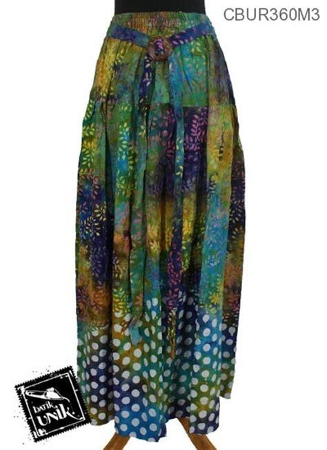 Rok Klok Anak rok batik klok cap motif daun tumpal pulkadot bawahan