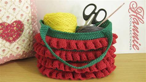 cara membuat tas rajut ransel crochet cara merajut tas berumbai ruffled handbag