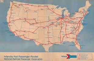 amtrak route map 1971 from the november 14 1971 system
