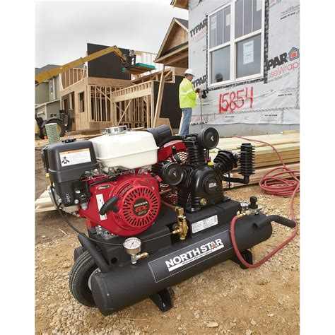 northstar gas powered air compressor honda gx ohv