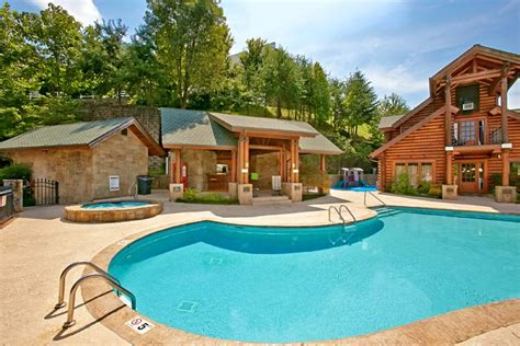 Dollywood Cabins With Pools by Pigeon Forge Cabin Rental Near Dollywood With Indoor Pool