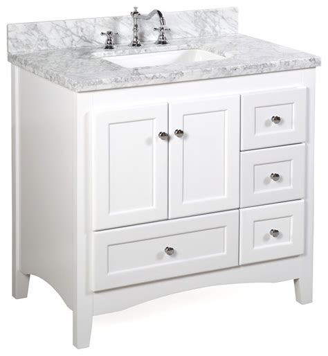 All White Vanity by Kitchen Bath Collection Bath Vanity Bathroom Vanities And Sink Consoles Houzz