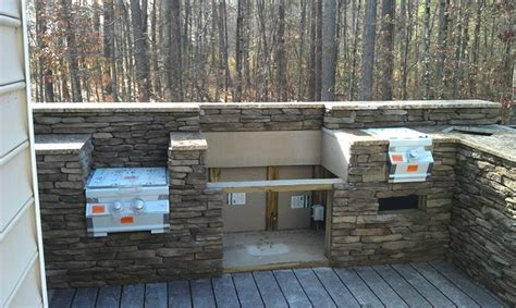 outdoor kitchen on patio deck a notch above